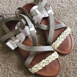 Rebels Metallic Gladiator Sandals